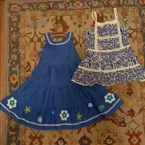 Two 3T blue sundresses by Gymboree/Elephantito